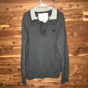 American Eagle Grey Sweatshirt Mens Large